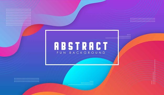 Plantilla de fondo degradado geométrico abstracto Vector Premium