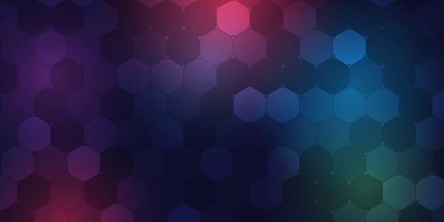 Plantilla de fondo con diseño geométrico hexagonal vector gratuito