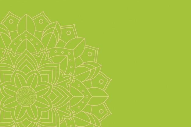 Plantilla de fondo con diseño de mandala vector gratuito