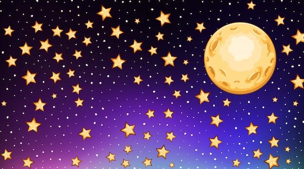 Plantilla de fondo con estrellas brillantes en cielo oscuro vector gratuito