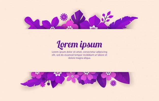 Plantilla De Fondo Floral Para Celebración Eventos De