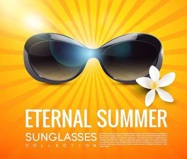 Plantilla de gafas de sol modernas y elegantes vector gratuito