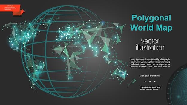 Plantilla de geografía y cartografía global vector gratuito