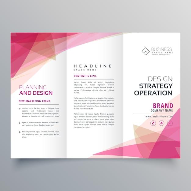 2886cb800cc6c Plantilla geométrica de folleto de negocios tríptico