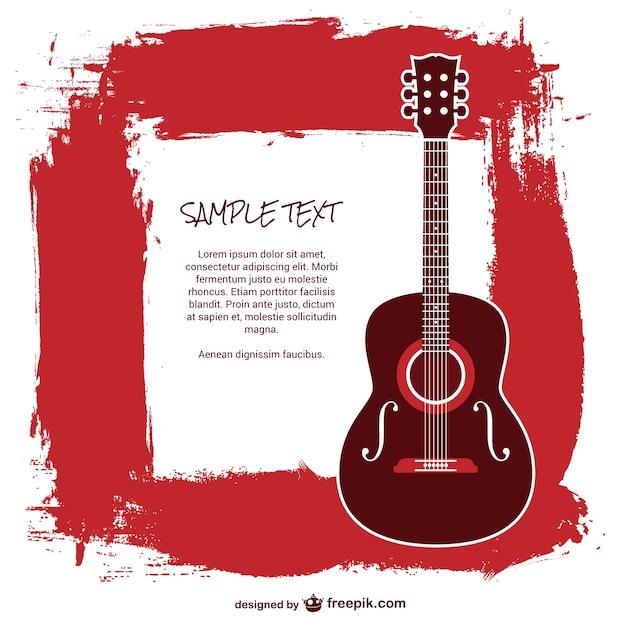 Plantilla guitarra con texto | Descargar Vectores gratis