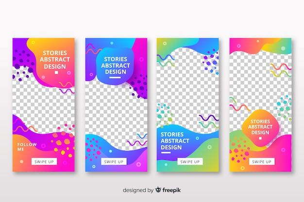 Plantilla de historias abstractas de instagram vector gratuito