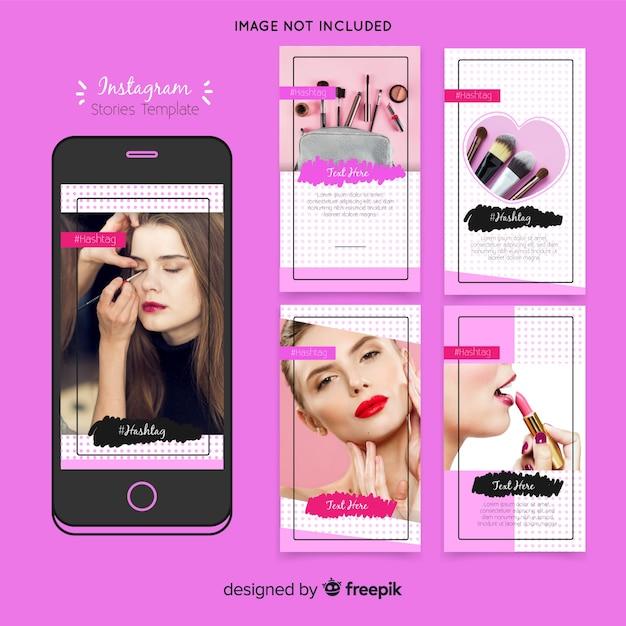 Plantilla de historias de instagram vector gratuito