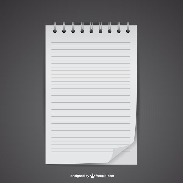 Plantilla De Hoja De Cuaderno Vector Gratis