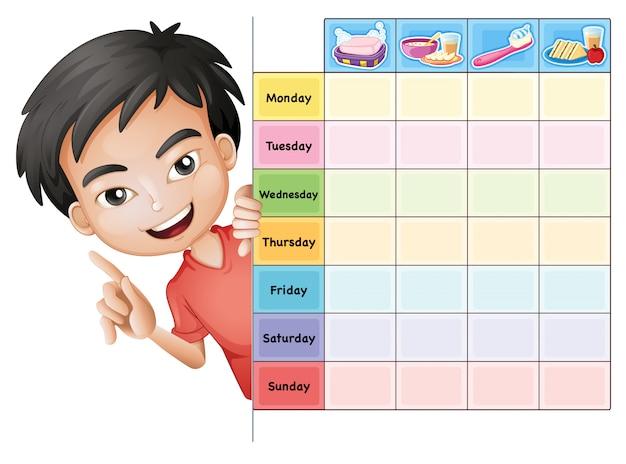 Plantilla de horario escolar vector gratuito