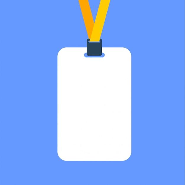 Plantilla de icono de diseño plano de identificación de tarjeta de boleto Vector Premium