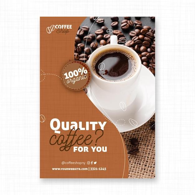 Plantilla de impresión de volante de café de calidad vector gratuito