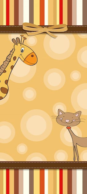Plantilla infantil de tarjeta de animalitos   Descargar Vectores ...