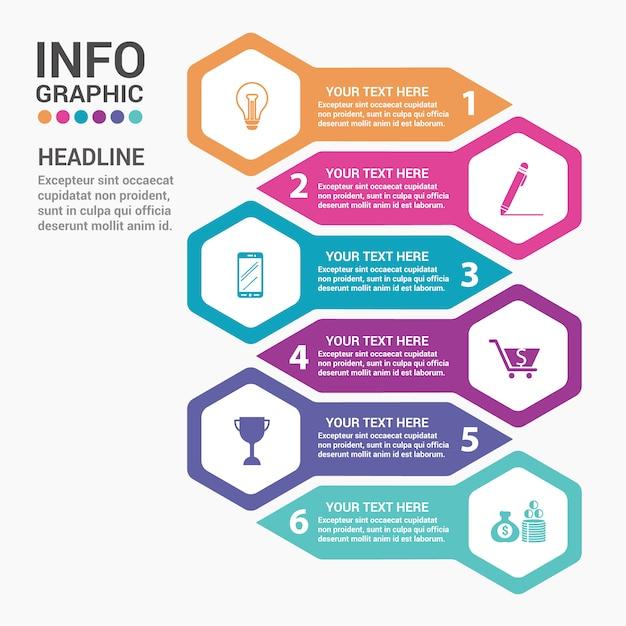 plantilla de infograf u00eda creativa con coloridos elementos