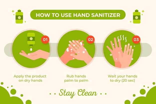 Plantilla de infografía desinfectante de manos vector gratuito