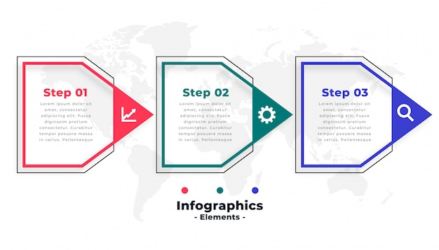 Plantilla de infografía empresarial en estilo de flecha vector gratuito