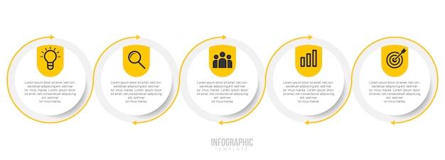 Plantilla de infografía empresarial Vector Premium