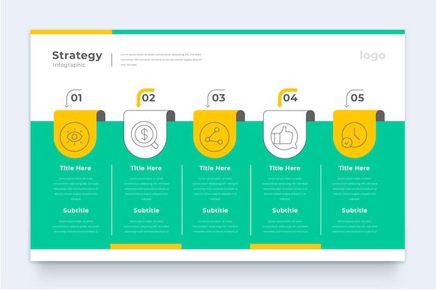 Plantilla de infografía de estrategia empresarial Vector Premium