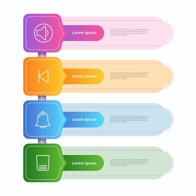 Plantilla de infografía gradiente vector gratuito