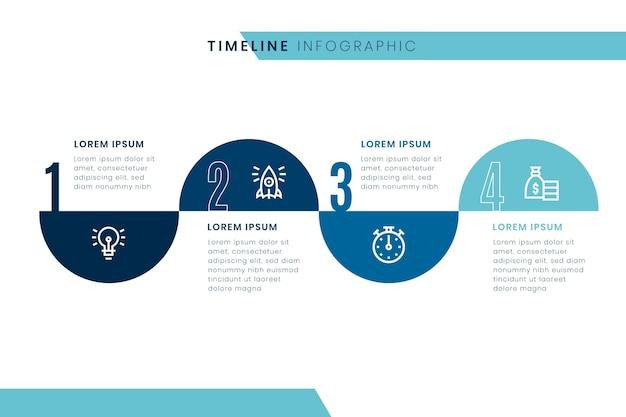 Plantilla de infografía de línea de tiempo vector gratuito