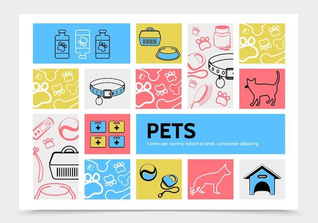 Plantilla de infografía de mascotas vector gratuito