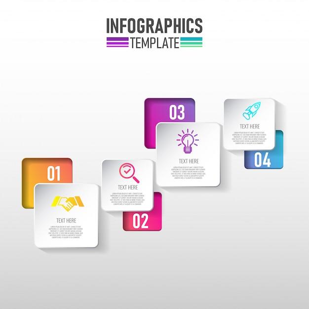 Plantilla de infografía moderna para negocios Vector Premium