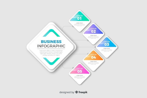 Plantilla de infografía de negocio vector gratuito
