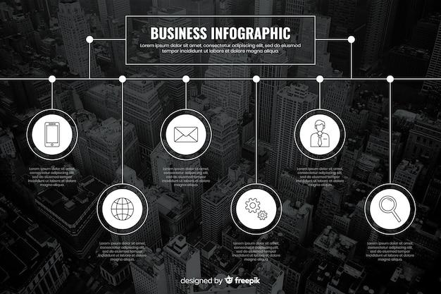 Plantilla de infografía para negocios con foto vector gratuito