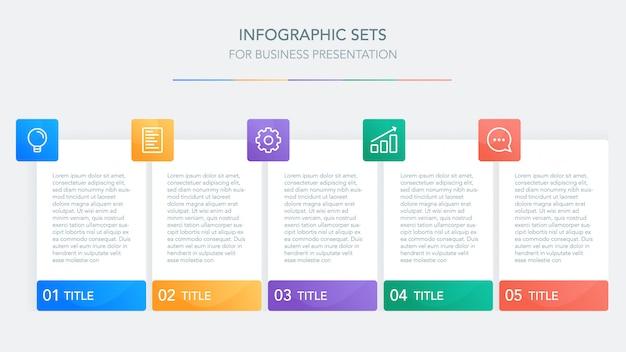 Plantilla de infografía de negocios para la presentación Vector Premium