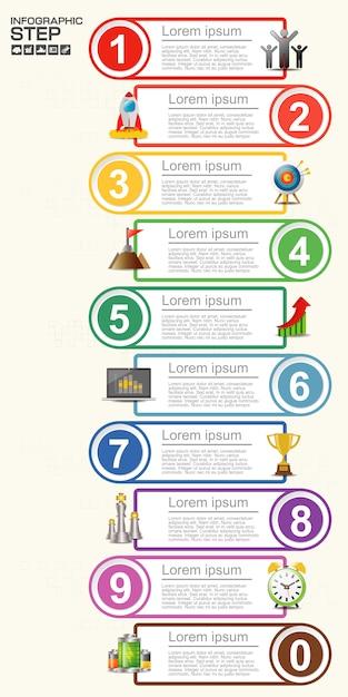 Plantilla de infografía de negocios. visualización de datos. Vector Premium