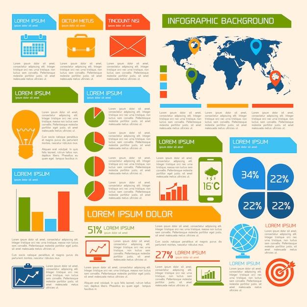 Plantilla de infografía de negocios Vector Premium