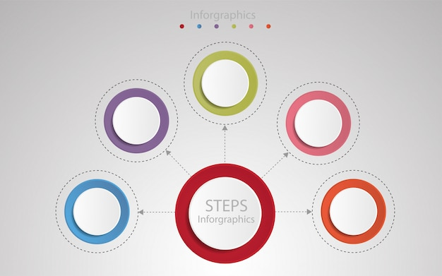 Plantilla de infografía paso Vector Premium
