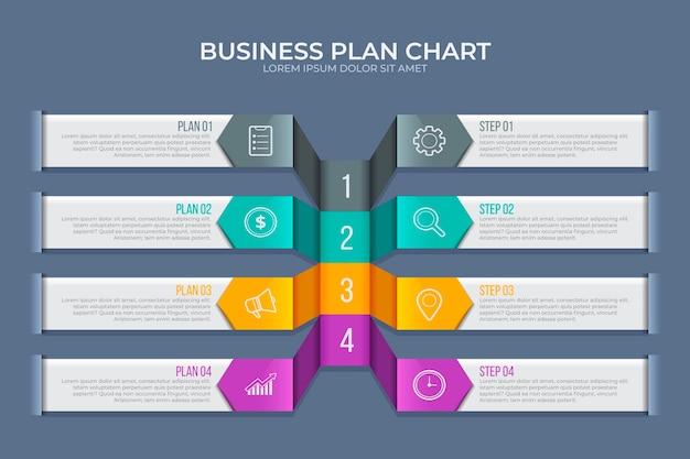 Plantilla de infografía de plan de negocios Vector Premium