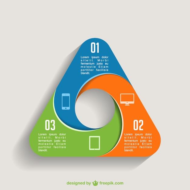 Plantilla de infografía triangular Vector Premium