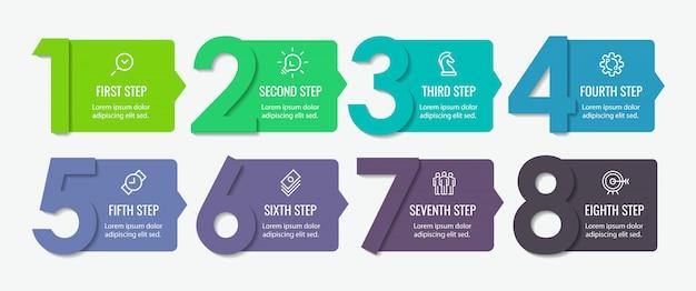 Plantilla de infografía Vector Premium