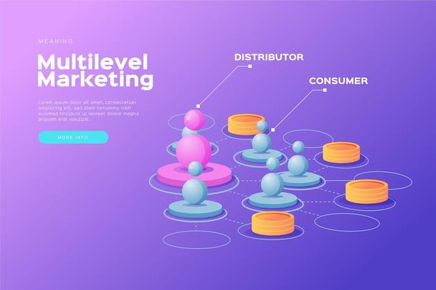 Plantilla de infografías de marketing vector gratuito