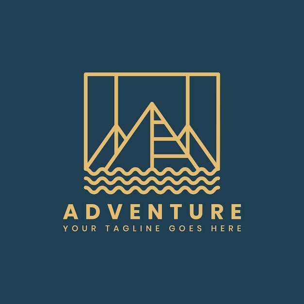 Plantilla de insignia de logotipo de aventura al aire libre vector gratuito