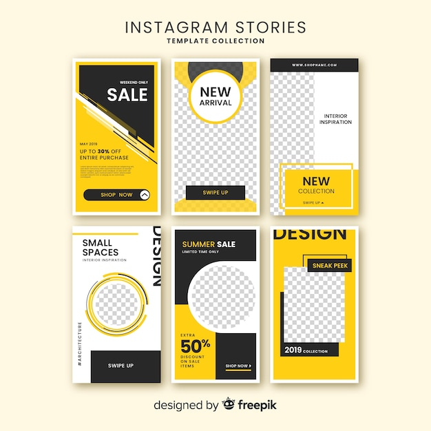 Plantilla de instagram stories vector gratuito