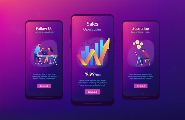 Plantilla de interfaz de aplicación de crecimiento de ventas Vector Premium