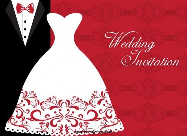 Plantilla invitación de boda | Descargar Vectores gratis