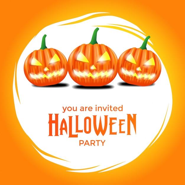 Plantilla de invitación de fiesta de halloween Vector Premium
