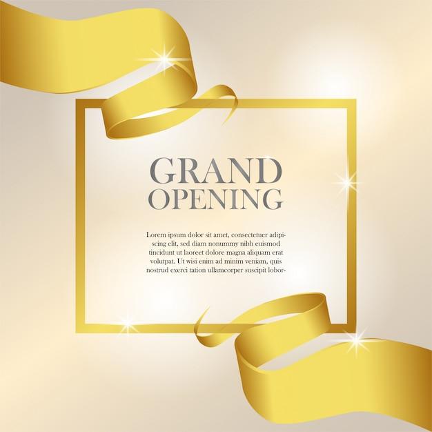 Plantilla de invitación de gran apertura femenina Vector Premium