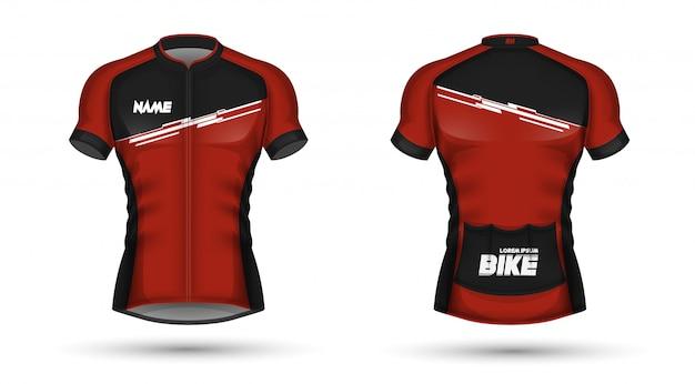 Plantilla de jersey de ciclismo Vector Premium