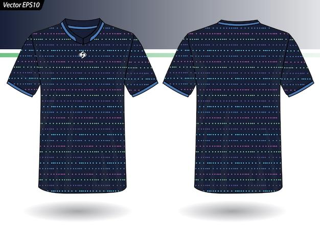 Plantilla de jersey deportivo para uniformes de equipo Vector Premium