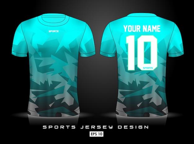 Plantilla de jersey deportivo Vector Premium