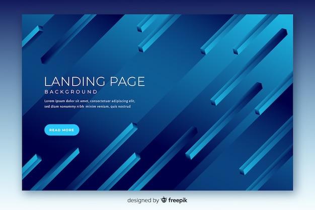 Plantilla de landing page abstracta en 3d vector gratuito