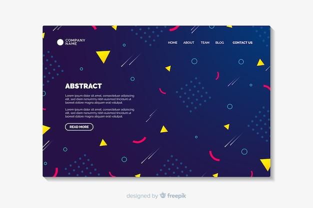 Plantilla de landing page abstracta vector gratuito