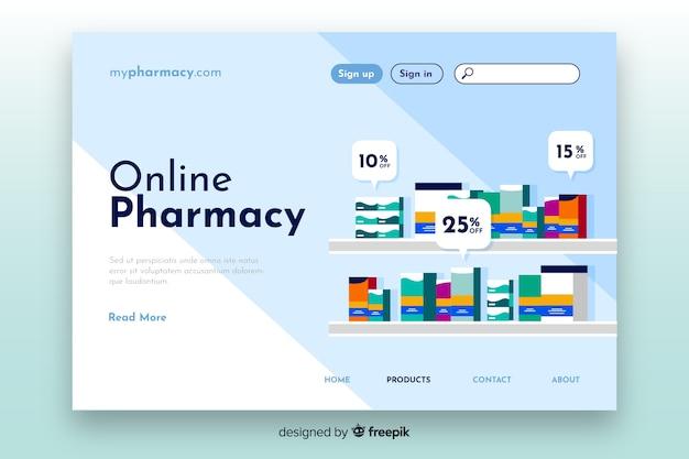 Plantilla de landing page de farmacia online vector gratuito