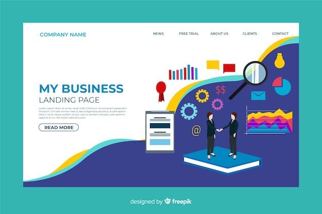 Plantilla de landing page de marketing digital vector gratuito