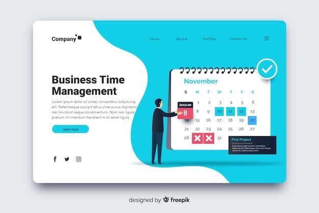 Plantilla de landing page de negocios vector gratuito