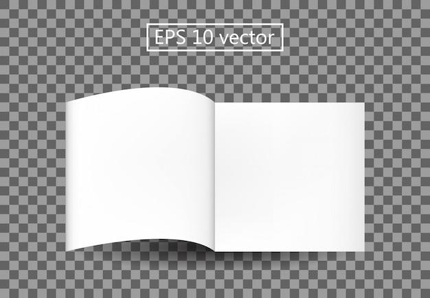 Plantilla de libro en blanco Vector Premium